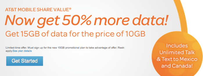 at&t new mobile share plans