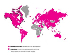 With T-Mobile, you can roam just about anywhere internationally for free - and in Canada and Mexico you get high-speed service just as if you were at home!