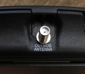 SMA-Female connector on a weBoost Drive 4G-X booster.