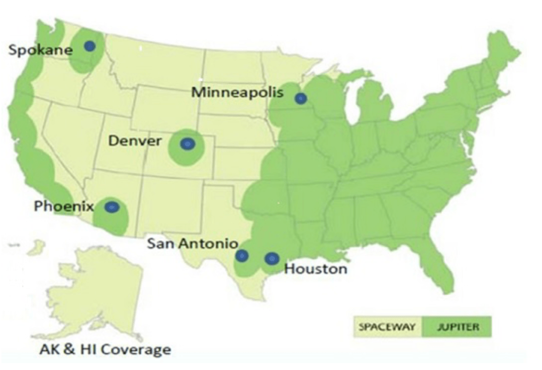 HughesNet Gen Satellite Internet Service Coming April St - Us internet coverage map minneapolis