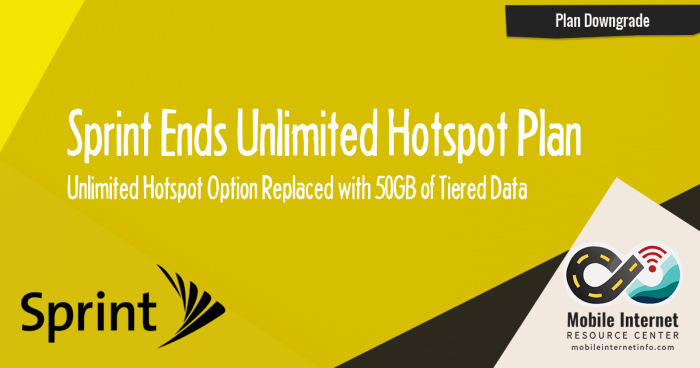 Sprint Ends Unlimited Hotspot Plan