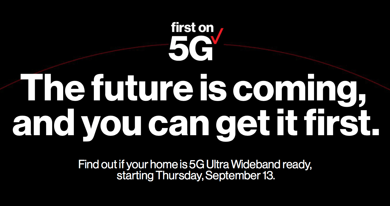 you can sting up for 5g service with verizon starting tomorrow september 13th