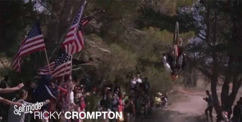 Downhill Mid-Race Backflip Badassery