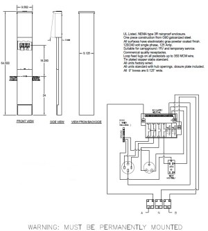 50 Amp Rv Pedestal Wiring Diagram  Somurich