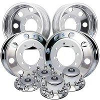 "Alcoa 19.5"" Dura Bright Wheel Package 8 on 275mm GM c4500 / c5500"