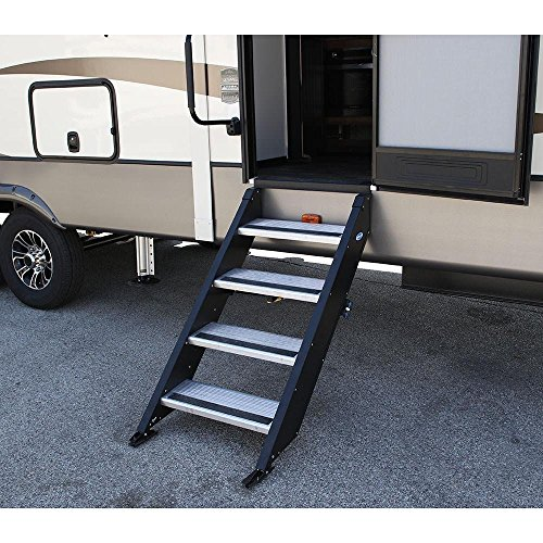 Prest-O-Fit 5-0073 Decorian Step Huggers For RV Stairs Peppercorn Black 13.5 In x 23.5 In.