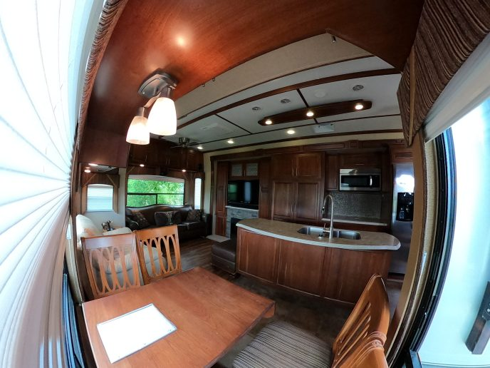 Rental Trailer inside dinning room area