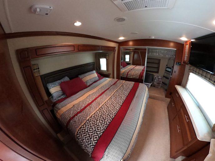 Rental Trailer master-bedroom