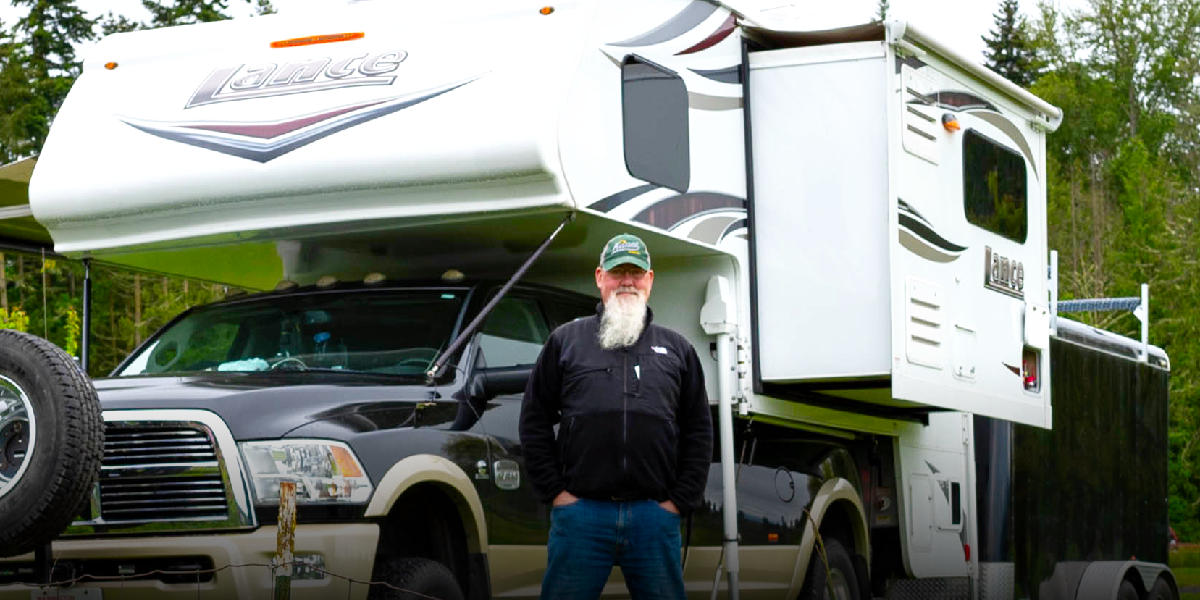 DIY Spotlight - Solar Powered Lance 1172 Truck Camper
