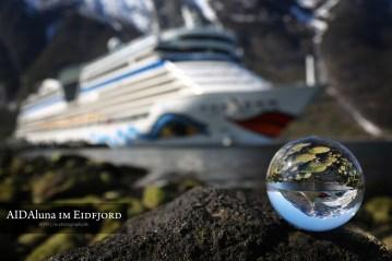 AIDAluna im Eidfjord