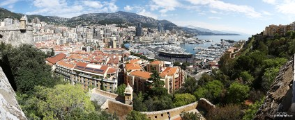 Blick auf Monte Carlo von Monaco