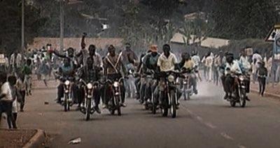 rwanda mob on bikes