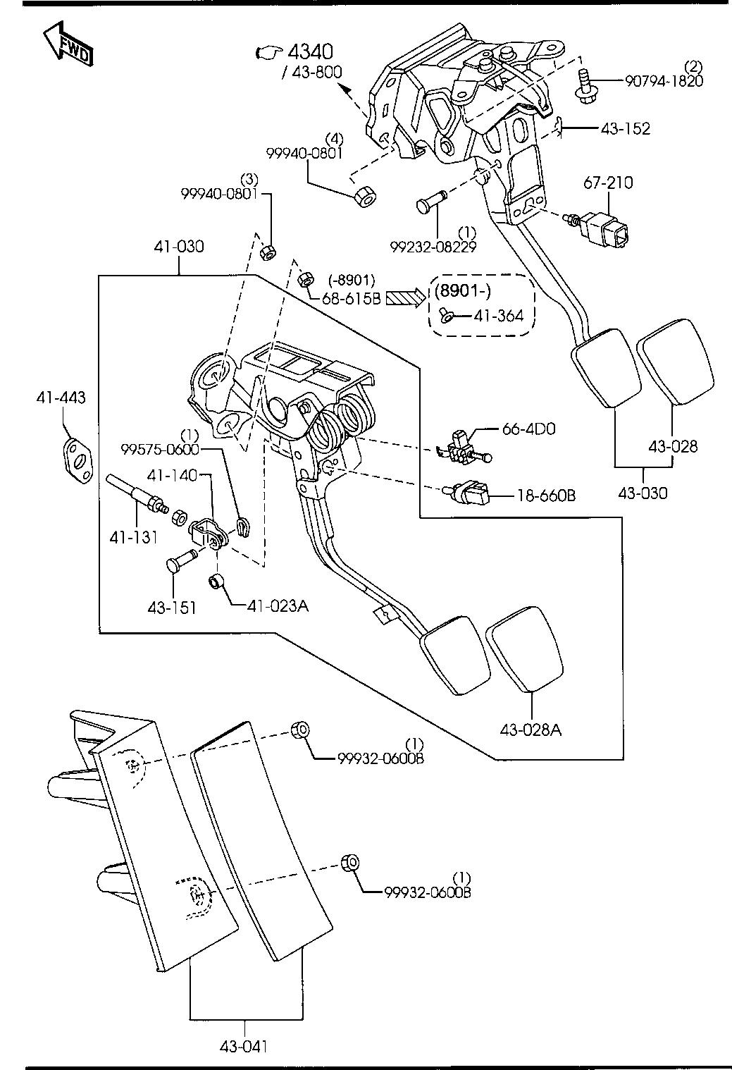 Rx8 Clutch Pedal Stop Pad