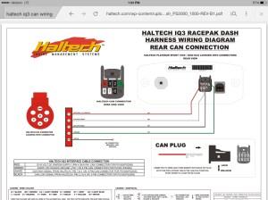 Wiring Racepak IQ3 can connector  RX7Club  Mazda RX7
