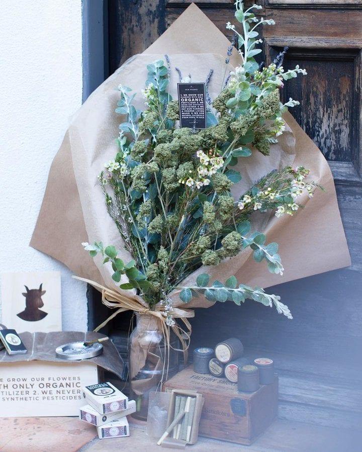 cannabis flower bouquet