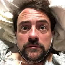 Heart attack photo of filmmaker Kevin Smith as he recovers in hospital from Widowmaker