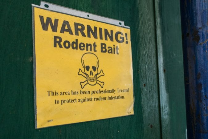 Rodent Bait warning sign