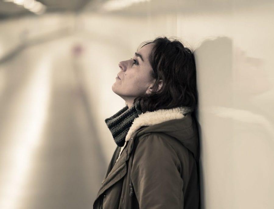 Post Traumatic Stress Disorder making woman sad