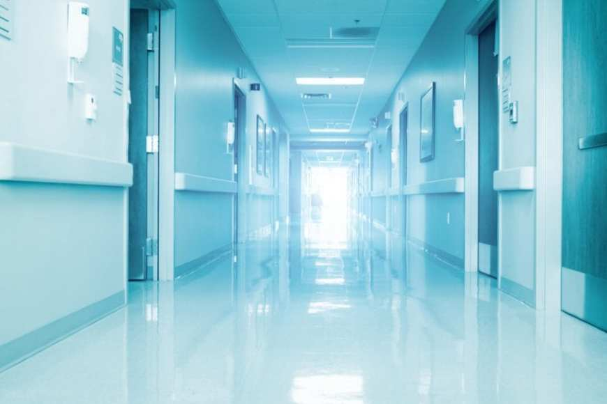 hospital hallway that could contain dangerous bacteria