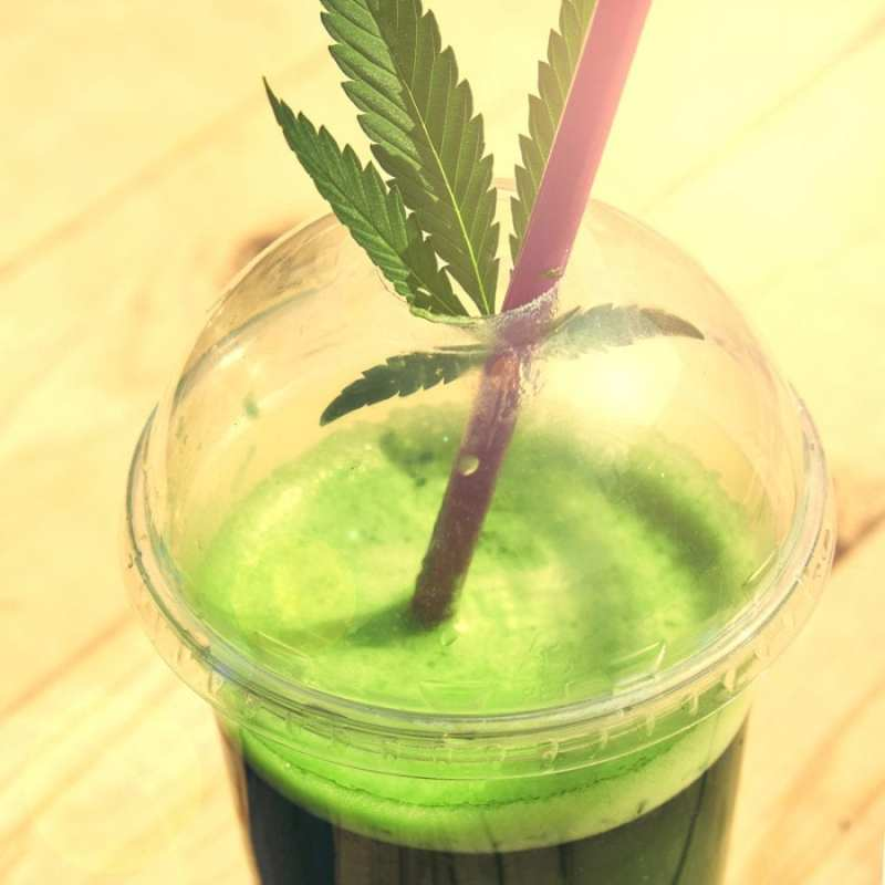 cannabis is a veggie represented by cannabis juice