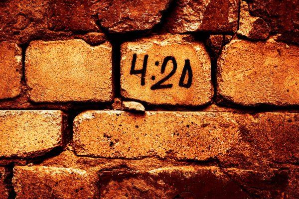 420 written on bricks