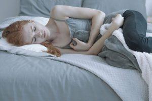 unwell girl with withdrawl symptoms