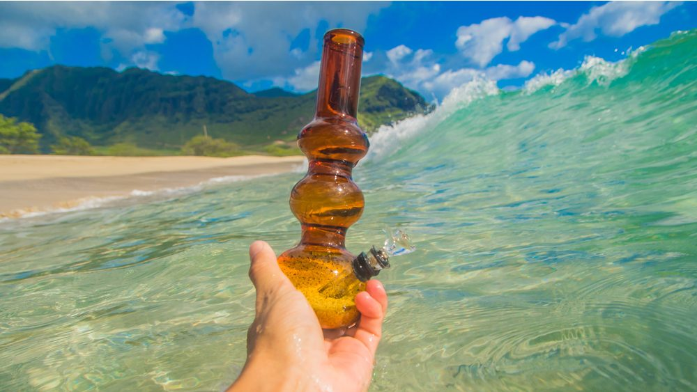 bong on a wave