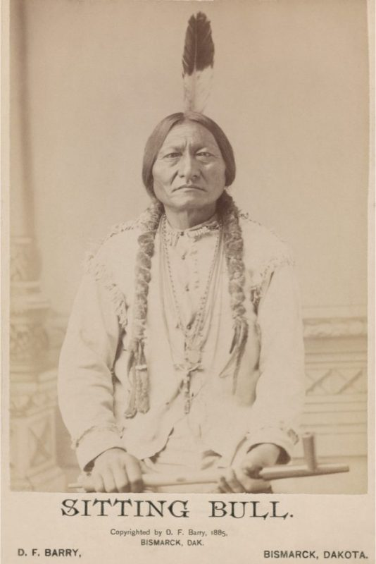 Sitting Bull, with Peace Pipe in hand