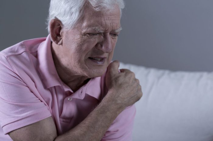 shoulder pain in senior