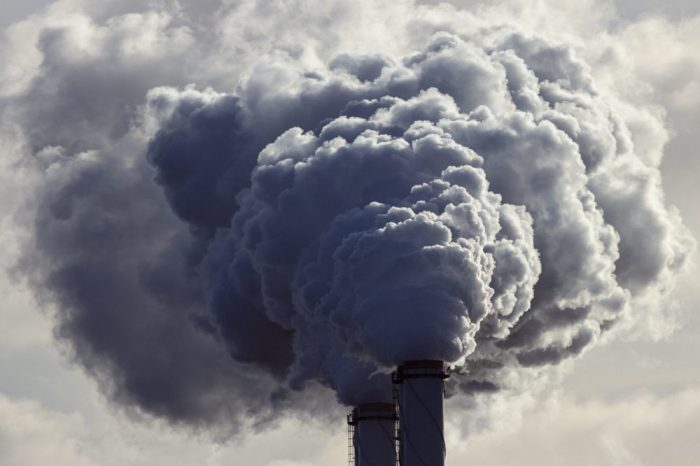 air quality being reduced by smokestacks