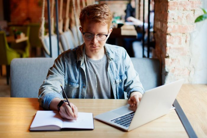cannabis at work probably fine for this office worker/writer young man