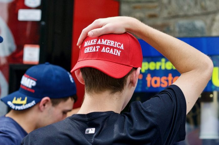 young republicans supporting cannabis represented by boy in trump hat
