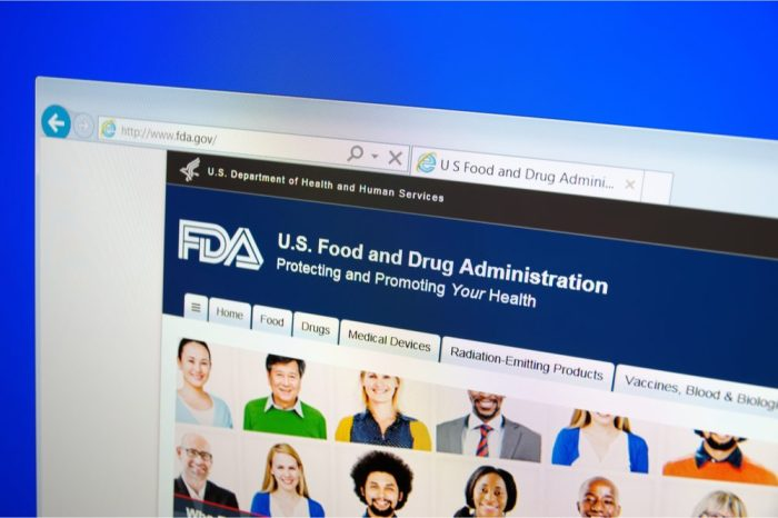 fda crackdown on cannabis might be announced on their website which looks like this