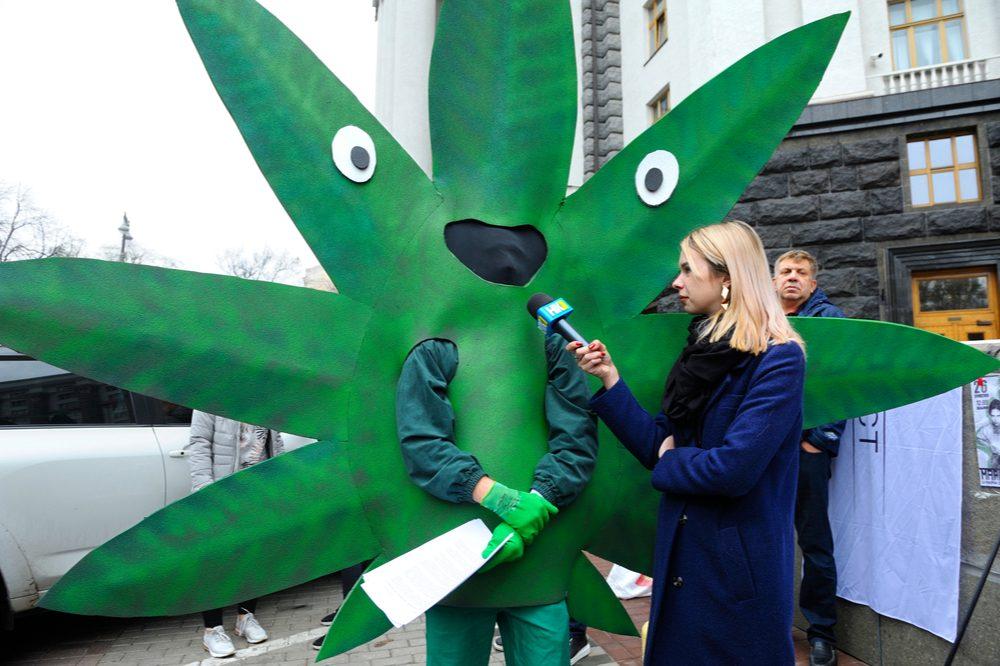 "Woman interviews a cannabis advocate. Words like ""cheeba"" do shape the public image of cannabis"