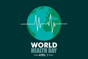 World Health Day logo. The WHO will honour nurses and midwives this April 7th