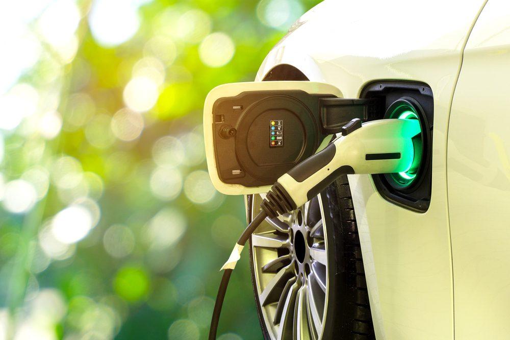 hemp batteries at work charging electric car