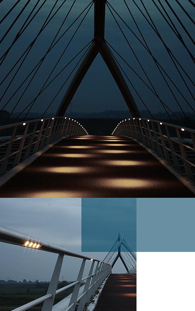 Vandaalbestendige verlichting en armaturen van RXLight lichten de Hoogtijbrug in Zaandam uit.