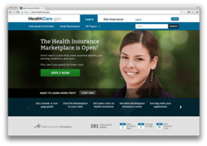 healthcare.gov initial screen