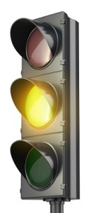 Yellow stoplight