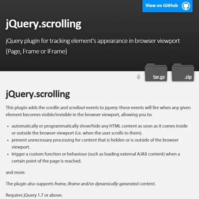 jquery.scrolling plugin