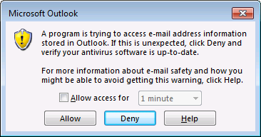How to stop Outlook