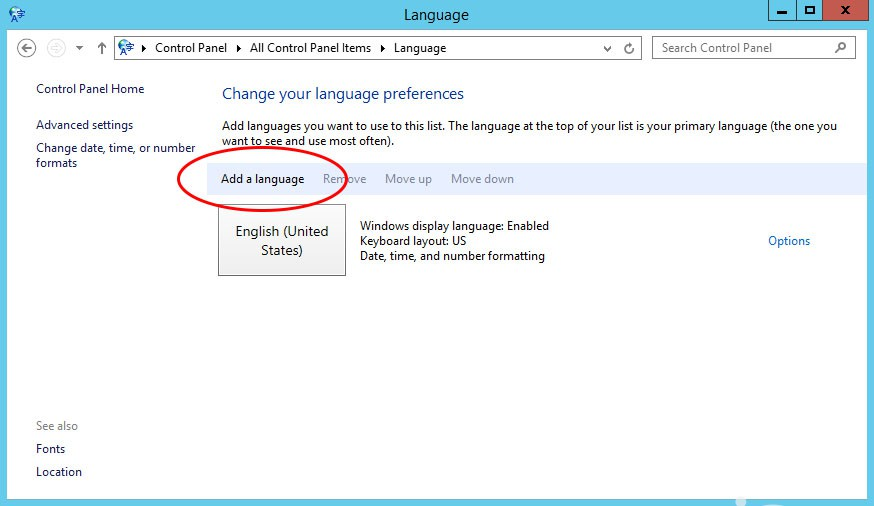 Change IIS default language on a working Windows Server