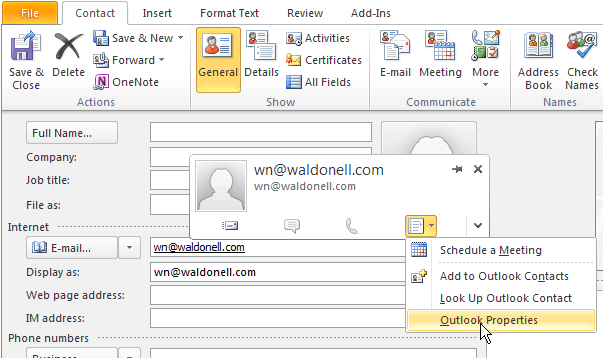 Configure Outlook to not use Winmail dat to send attachments