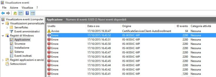 event-viewer-IIS-W3SVC-WP