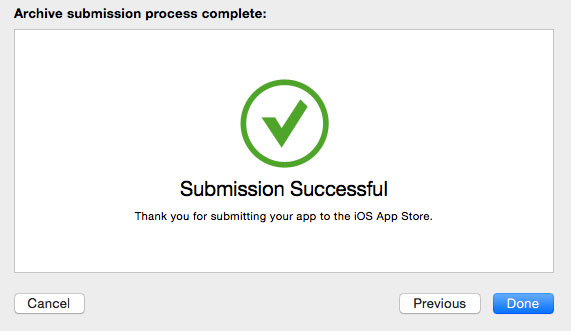 xcode-app-submission-successful