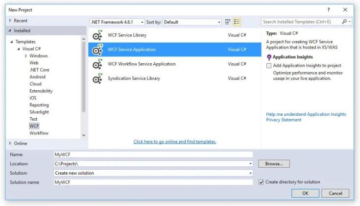 Creare un Web Service SOAP con ASP.NET WCF, Visual Studio e IIS 8