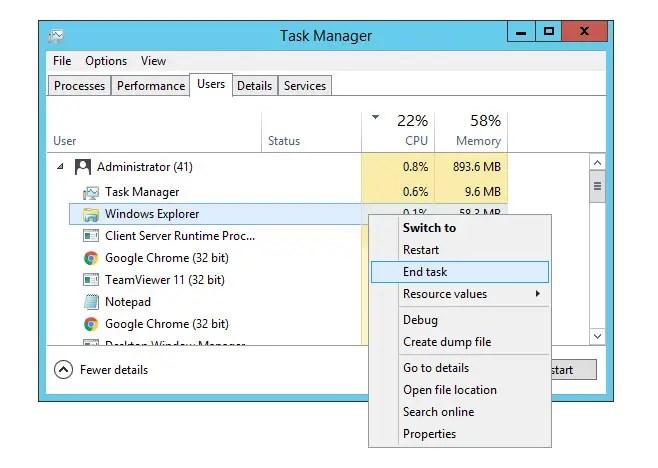 Windows Explorer & Explorer.exe crash, desktop freeze and taskbar gone - How to fix them all without rebooting