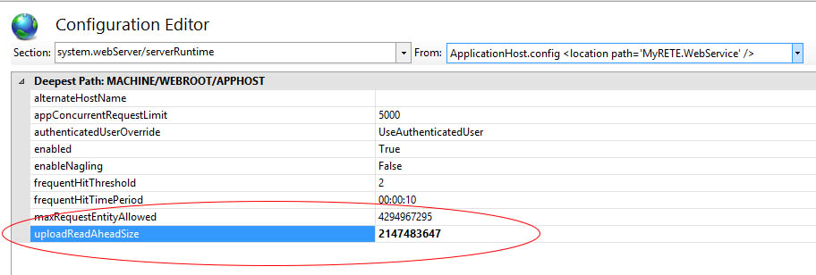 ASP NET - Request Entity Too Large e Maximum request length exceeded