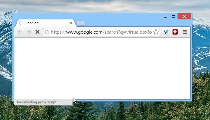 """Google Chrome bloccato su """"Dowload script proxy..."""" dopo il ripristino del sistema da Sleep Mode, Sospensione e/o Ibernazione - Come risolvere"""