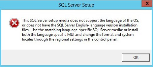 SQL Server 2017 Install - Oops and Language not supported Errors - How to fix them